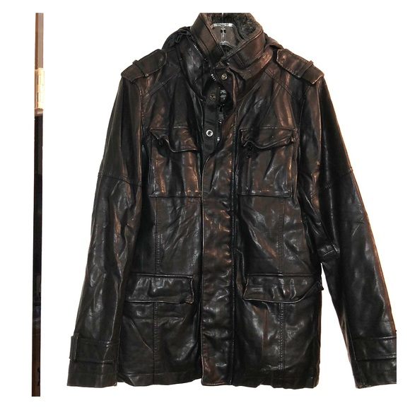 33a4affcd Express Men's Vegan Leather Jacket